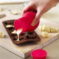 Cuocere strumenti di pasticceria pratico silicone cioccolato al cioccolato melting pot stampo burro salsa al latte versando liquido tenendo le barattoli bottiglie LX4417