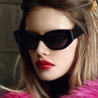 패션 고양이 눈 불규칙한 선글라스 여성 빈티지 맑은 사탕 색 안경 남자 동향 다각형 태양 안경 음영 UV400