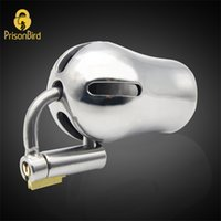 CHASTE BIRD New Male Luxury Chastity Device Stainless Steel Cock Penis Cage with Titanium Plug PA Magic Lock Sex Toy BDSM A294 210408