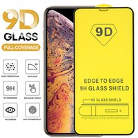 9D Full Cover tempered Glass for iPhone 13 12 pro max XS 11 XR 6 7 8 Plus 5D full glue Screen Protector Samsung S21 Plus A12 A32 A41 A42 A51 Huawei P50 LITE P Smart 2021