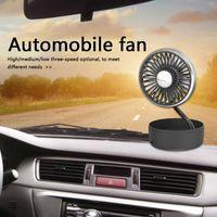 Ventilador de coche recargable 3 velocidades Ajustable 5 cuchillas Mesa de escritorio Verano Viaje al aire libre Portátil Radiador eléctrico Fans