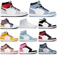 1 Mit dem kostenlosen Socken NEW 1 High-Basketball-Schuhe verboten HOMMAGE AN HOME GYM RED Chicago TOP 3 LAKERS Männer 1s Sport Turnschuhe 36-46