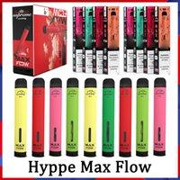 Hyppe Max Flow 2000cuffs Jetables Vape 6ML Cartouches pré-remplies Pods 900mAh Cartouches de vaporisateur de batterie E-Cigarettes Plus Alphaa Onee