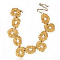 Chokers koraba joyería de moda collar exagerado personalidad de alta calidad de forma irregular oro para mujeres