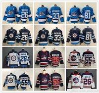 Winnipeg Jets Hockey Jersey 26 블레이크 휠러 33 Dustin Byfuglien 55 Mark Scheifele 81 Kyle Connor Jerseys News Heritage Classic Ice Hockey