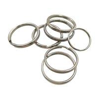 16/20 / 25mm 50 pçs / lote metal titular chave split anéis unisex keyring keychain keyfob acessórios keychain fazendo diy acessórios y0306 402 q2