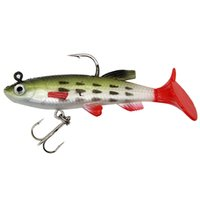 Baits de qualité supérieure 9cm / 14g de pêche douce de la pêche silicone artificiel appât artificiel poisson lure hale bass carpe poisson taquine