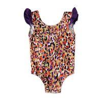 الفتيات قطعة واحدة أطفال ملابس السباحة الدعاوى الطفل السباحة ملابس الأطفال اللباس ليوبارد لطيف 0-3 طن B5324