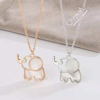 Pendant Necklaces 2021 Japanese And Korean Fashion Ladies Party Brass Elephant Necklace Design Sense Trend Style Clavicle