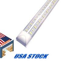 8FT LED магазин светильник, T8 8 футов 144 Вт 14400LM 6000K трубка, прозрачная крышка V-образных холодных белых пробирок на высоте, луковицы для гаража 25 шт. 85-265 В USASTAR