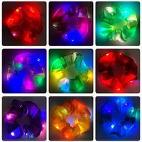 Led Intestino dei capelli del grido Partito dei capelli Ins il copricapo luminoso Tre ingranaggi della corda lucida netta rossa Nightclub Bungee Color Lamp Lampada di gomma Gomma Femmina HWD6246