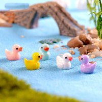 Decorações bonitos 5 pçs / 5 cores Pequeno pato amarelo aquário decoração de decoração de resina