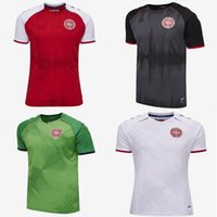 2021 2022 Dinamarca Jersey 21 21 2 22 Dinamarca Camisetas Eriksen Hojbjerg Yussuf Christensen Home Away National Football Shirt Goleiro