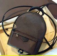 أعلى العلامة التجارية الفاخرة عالية الجودة السيدات النخيل النخيل الكتف البسيطة حقيبة جلد الاطفال الإناث المطبوعة أزياء مصمم 0253