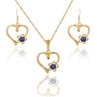 Sophiaxuan Hawaiian Love Coeur Pendentif Collier Saint Saint Valentin Brendy Bijoux Bijoux Bijoux Fashion Bijoux pour Femmes 2021 Boucles d'oreilles