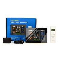 Smart Home Control PT 201C Kolor Wyświetlacz Cyfrowa stacja pogodowa Kryty Outdoor Thermo-Higrometr 4-Level Regulowany ściemniacz