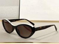 Moda Mulheres Desenhador Óculos de Sol 5416 Placa Vintage Gato Olho Encantador Quadro de Quadro Pequeno Óculos Avant-garde Estilo na moda Lente clara Eyewear UV Proteção vêm com caso
