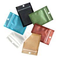 Gift Wrap 50 100PCS AluminiumFoil Zipper Bag Mobile Phone Case Data Line Jewelry Earring Mask Packaging Self-sealing Bags