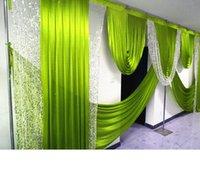 2021 6m de largeur de mariage Swag Swags Designs Swags de styliste de mariage pour la toile de fond du rideau de rideau de fond rideaux rideaux