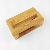 UI Real Soporte de madera natural para teléfono móvil soportes de madera de bambú hechos a mano para teléfono celular AccessRios de madera.