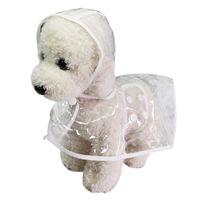 Dog Apparel Fashion Pet Clothes Raincoat Transparent Rain Coat Waterproof Pets Raincoats Small Dogs Clothing