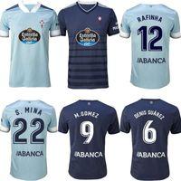 20 21 RC Celta دي فيغو لكرة القدم جيرسي Lobotka Iago Aspas Santl Mina Football Shirt Sisto Boufal 2020 الرجال البالغ + أطفال