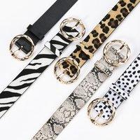 Ceintures Yonbaody Jeans ceinture, boucle ronde Adiron, léopard, zèbre, motif de vachette, robe, collection