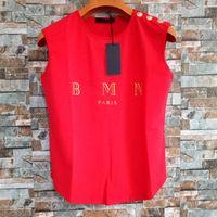 Mode Femmes Designer T-shirts Été Femmes Vêtements de haute qualité Top manches courtes sans manches pour femme S-L