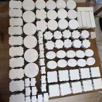 Leere weiße Sublimation Anhänger Wärme Thermische Transferdruck Ornament DIY Customized Home Decor A02