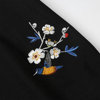 Mens Polo Camiseta Hip Hop Streetwear Bordado Floral Polo Verão 2021 Poloshirt Black Algodão Casual Manga Curta
