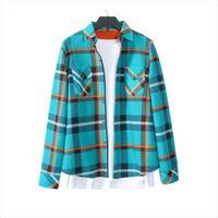 Plus Size Winter M 4XL Camicie da donna Velvetta spessa Blusas a maniche lunghe a maniche lunghe Camicia a quadri Blouss Flannel Bluses Feminina Chemise femme