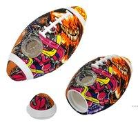 Kreative Fußball Raucher-Rohre Silikon-Handrohr mit Glasschüssel für Tabak-arabische Wasserbongs-Hukahn Fabrik Großhandel HWF6242