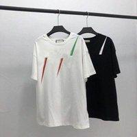 20ss мужская футболка дизайнерская буква печати экипаж шеи повседневные летние дышащие мужские женские футболки сплошные цвет топы тройки оптом 13pr #
