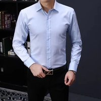 2021 Luxury designer's Business Casual Shirt, Long Sleeve, Stripe, Trim Social Men's T-shirt, Fashion Plaid #BBBBB