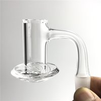 20mm 2,5 mm dicker Quarz-Mixer-Spin-Banger-Nagel mit rauchender abgeschrägter oberster domellose Nägel, um das Platsch-Wasser-Wasserbongs zu vermeiden