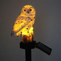 태양 잔디 풍경 램프 polyresin 동물 올빼미 LED 야외 정원 장식 빛