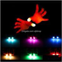 Gadget Funny Novelty Lightup Thumbs Led Light Flashing Fingers Magic Trick Props Amazing Glow Toys Children Kids Luminous Gifts Pj49I L3Mnw