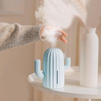 Essential Oils Diffusers 340ml Cuctus Air Humidifier 1200mAh Battery Operated Silicone Flexible Cactus USB Aroma Oil Diffuser Cool Mist Make