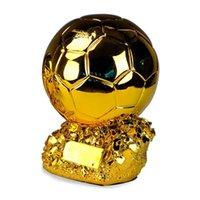 الراتنج الذهبي الكأس التماثيل مكتب كرة القدم مباراة بطل تذكارية كأس صديق هدية المنزل الديكور الحرف