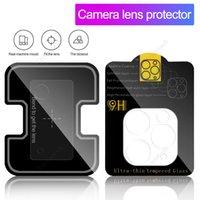 Equipo reutilizable de vidrio de vidrio de película de cámaras para iPhone 11 12 Pro Max Samsung S20 Nota 20 Protector de pantalla de lentes ultra cámara cubierta completa con caja de venta al por menor