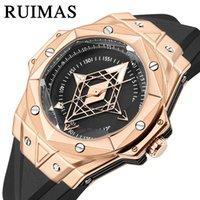 2021 New Luxury Fashion Designer New Rimashi Ruimas Marke Uhr Herren Mode Trend Leuchtende Uhr Tattoo Gesicht Quarzuhr 330