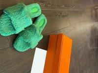 Designer Stiletto High Heels Love Horse Cotton Slipper Hausschuhe Schuhe Design Qualität Frauen Herbst und Winter Wollflip Flops mit orange Kasten