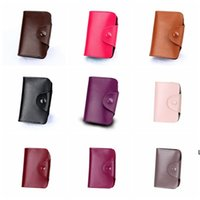 Unisex Kleine Lederkartenhalter mit Knopf Slim Wallet Visitenkarten Fall Orgel Kartenhalter Aufbewahrungstaschen 15 Slots 12 Slots DHF6332