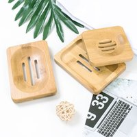 Plato de jabón de madera platos de bambú natural de madera.