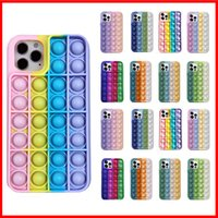 POST POP FIDGET TOYS Пузырьковые чехлы для телефонов для iPhone 12 Mini 11 Pro Revive Rescreme Relase Soft Silicone Gel Cover