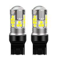 Luzes de emergência 2pcs t20 7440 w21w wy21w super brilhante lâmpadas led lâmpadas de freio de carro girar sinais auto lâmpada de estacionamento lâmpada de lâmpada de luz vermelho branco ye