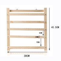 Hooks & Rails Earring Holder Solid Wood Jewelry Storage Organizer Wall Shelf Home Ornaments Display Stand Hanger For Necklace Ear Clip