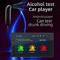 Car Audio 2 DIN Radio Android10.1 Quad Core Multimedia Video Player 7 Inch Screen GPS WiFi Bluetooth FM Support Alcohol Tester