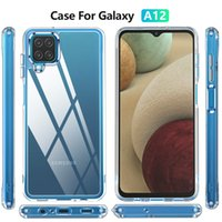 Shockproof Transparent Acrylic Phone Cases For Samsung Galaxy S21 Ultra S20 FE A72 A52 A32 A12 A71 A51 A21s iphone 13 Pro Max TPU Protective Cover