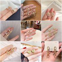 2021 Jewelry 925 Silver Needle Earrings Fashion Trend Web Celebrity Pearl Temperament Socialite Pendant Wholesale Girls Show Thin Xz188